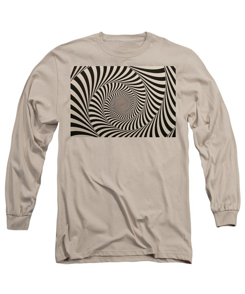 Optical Illusion Beige Swirl Long Sleeve T-Shirt