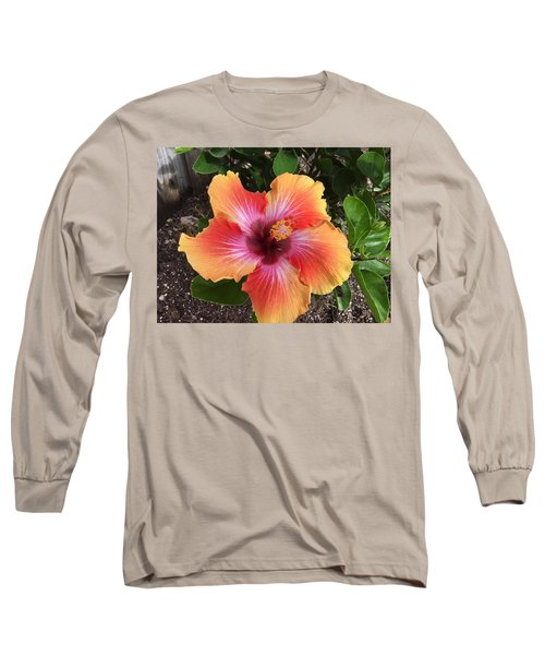 Orange And Red Beauty Long Sleeve T-Shirt