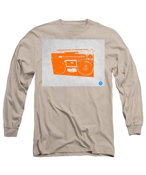 Orange Boombox Long Sleeve T-Shirt