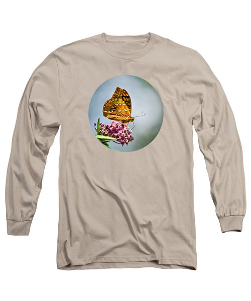 Long Sleeve T-Shirt featuring the photograph Orange Butterfly by Christina Rollo