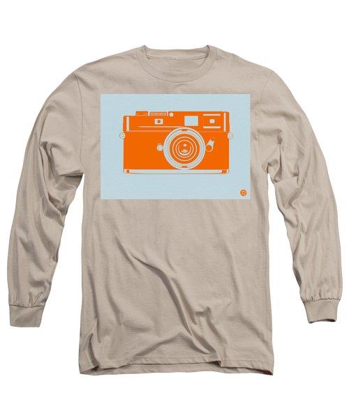 Orange Camera Long Sleeve T-Shirt