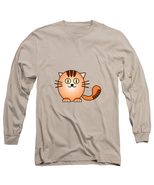Orange Cat - Animals - Art For Kids Long Sleeve T-Shirt