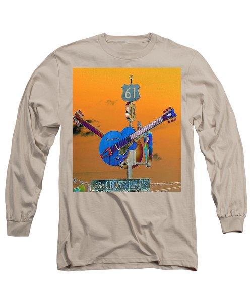 Orange Crossroads Long Sleeve T-Shirt
