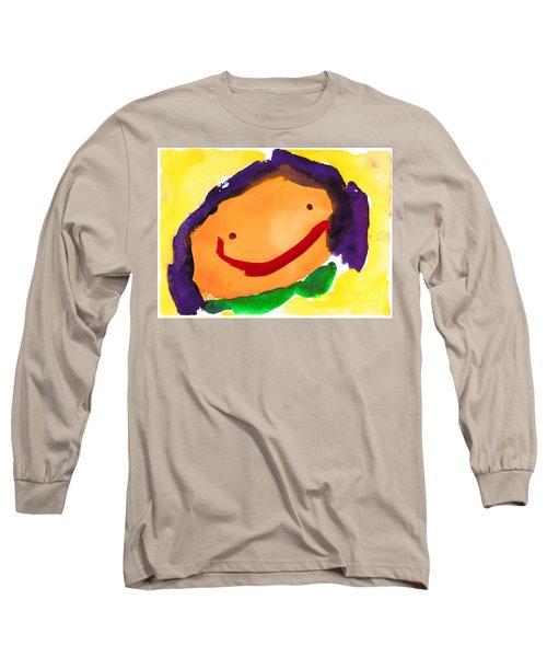 Orange Happy Face Long Sleeve T-Shirt