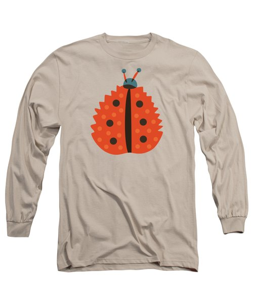 Orange Ladybug Masked As Autumn Leaf Long Sleeve T-Shirt