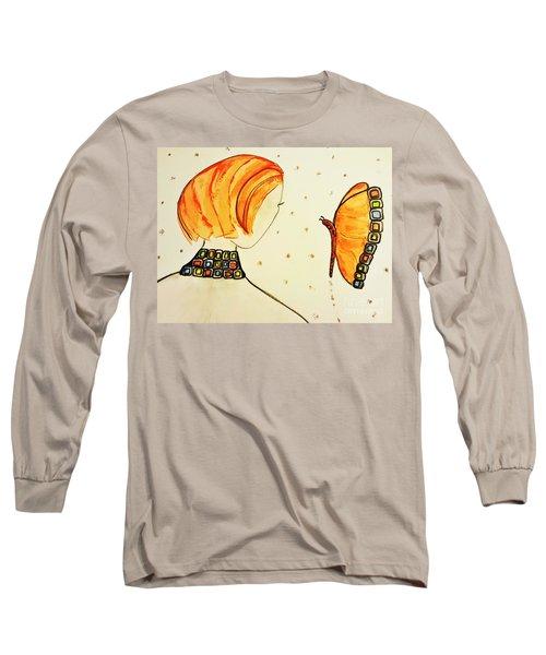 Orange Match Long Sleeve T-Shirt
