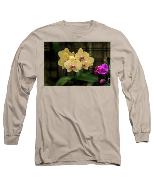 Orange Orchids Long Sleeve T-Shirt