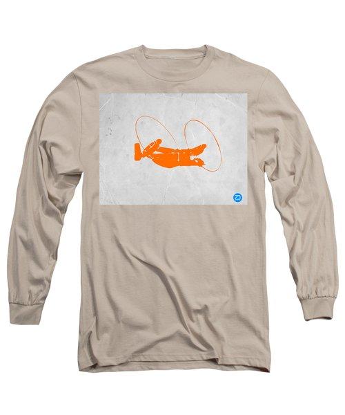 Orange Plane Long Sleeve T-Shirt