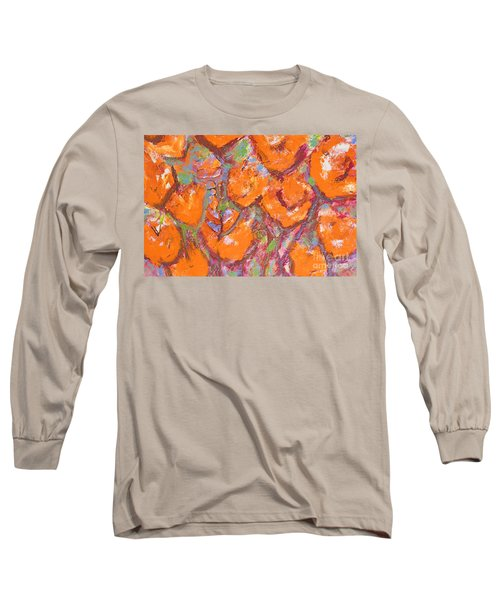 Orange Poppies Long Sleeve T-Shirt by Gallery Messina