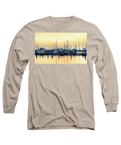Orange Sorbet Long Sleeve T-Shirt by Maddalena McDonald