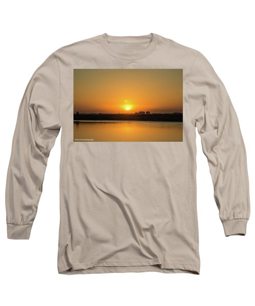 Orange Sunrise Long Sleeve T-Shirt by Nance Larson