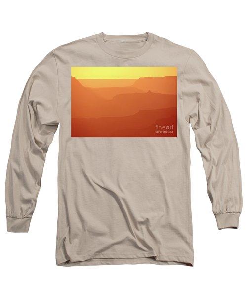 Orange Sunset At Grand Canyon Long Sleeve T-Shirt by RicardMN Photography