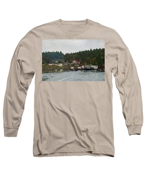 Orcas Island Dock Digital Long Sleeve T-Shirt