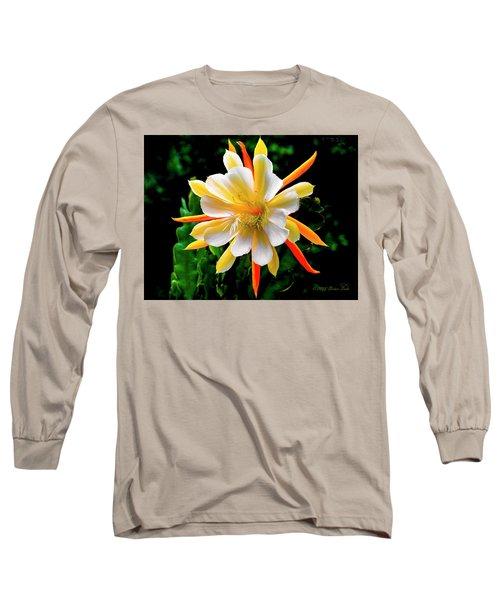 Orchid Cactus Epiphyllum Long Sleeve T-Shirt