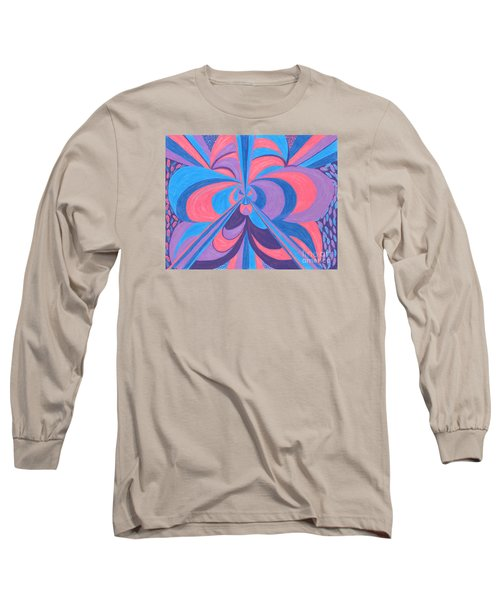 Long Sleeve T-Shirt featuring the drawing Orchid by Kim Sy Ok