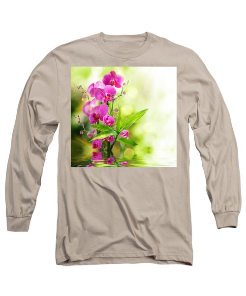 Orchidaceae Long Sleeve T-Shirt by Thomas M Pikolin