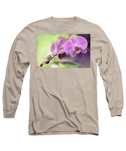 Long Sleeve T-Shirt featuring the photograph Orchids by Cathy Donohoue