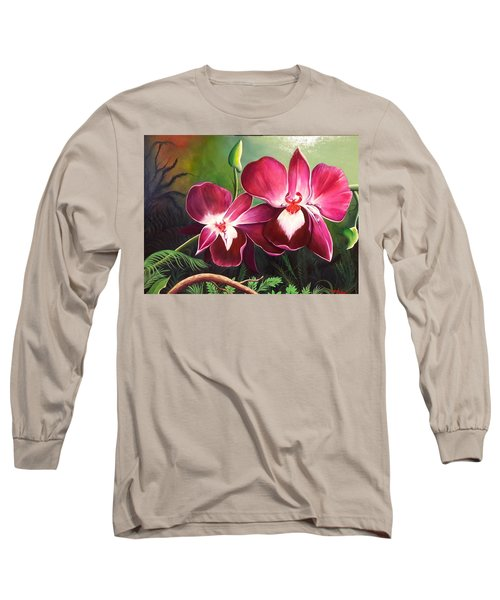 Orchids In The Night Long Sleeve T-Shirt