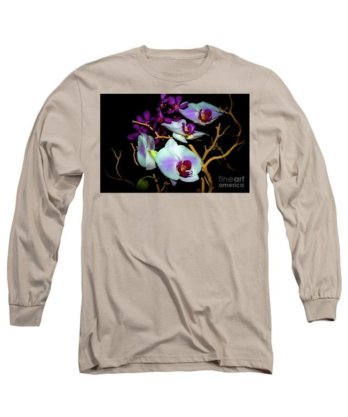 Long Sleeve T-Shirt featuring the photograph Orchids In Water Color by Diana Mary Sharpton