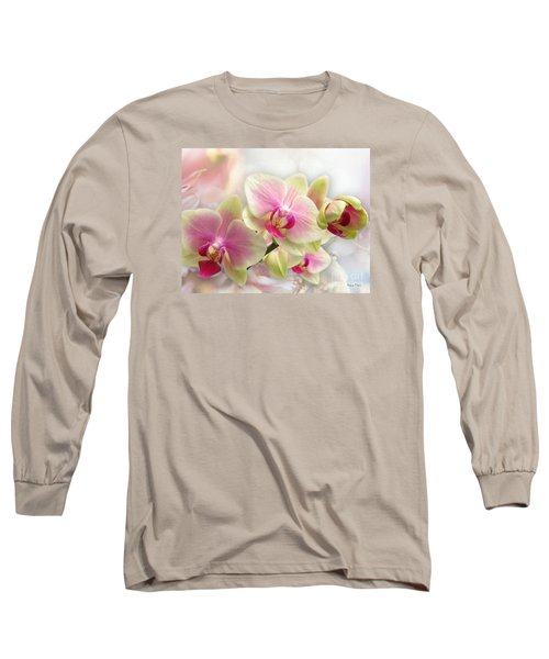 Orchids Long Sleeve T-Shirt by Morag Bates
