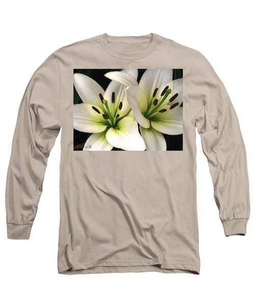 Oriental Lily Named Endless Love Long Sleeve T-Shirt by J McCombie