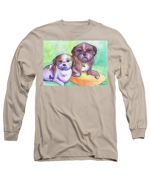Oscar And Max Long Sleeve T-Shirt by Whitney Morton