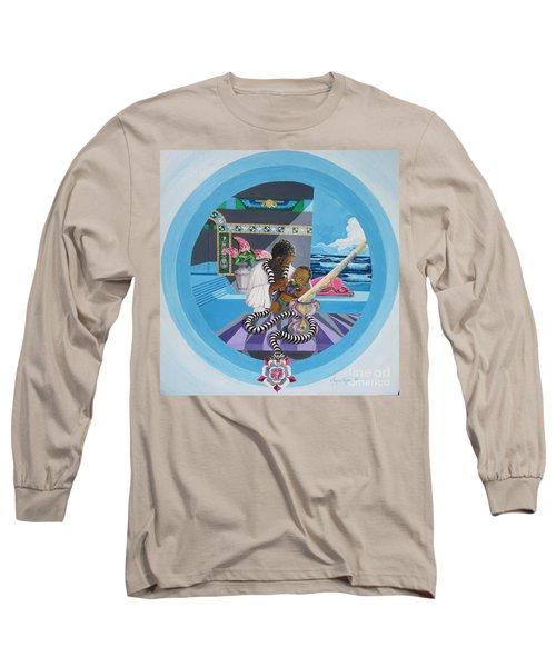 Blaa Kattproduksjoner             Osiris Feeding His Son Horus Long Sleeve T-Shirt