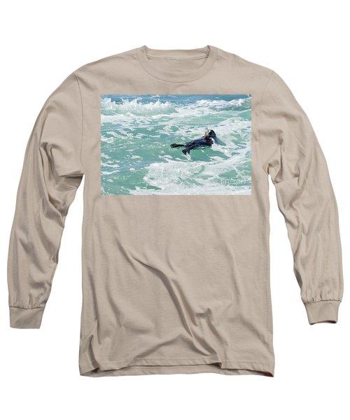 Otter At Montana De Oro Long Sleeve T-Shirt by Michael Rock