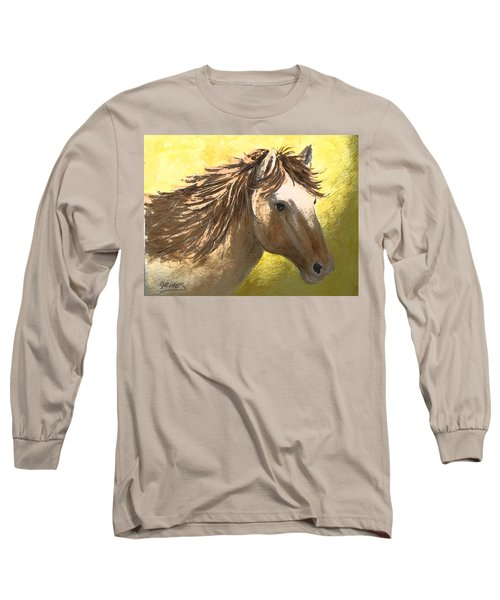 Long Sleeve T-Shirt featuring the painting Out Of The Sun by Carol Grimes