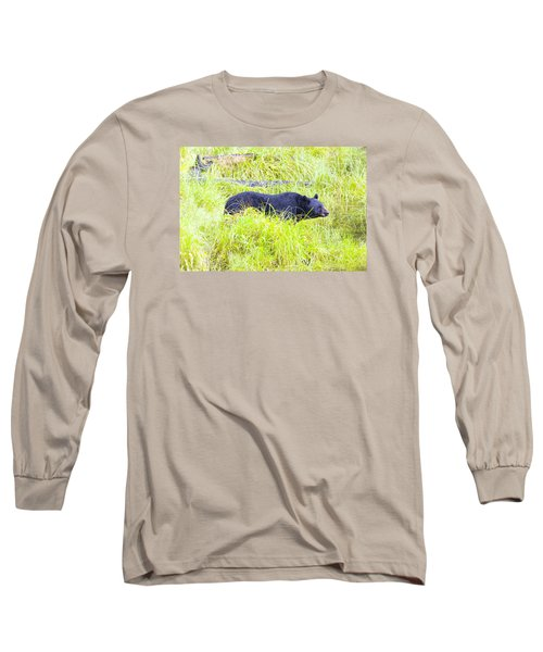 Out Standing In His Field Long Sleeve T-Shirt by Harold Piskiel