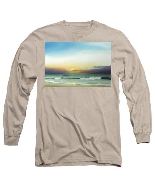 East Coast Sunrise Long Sleeve T-Shirt by Albert Puskaric
