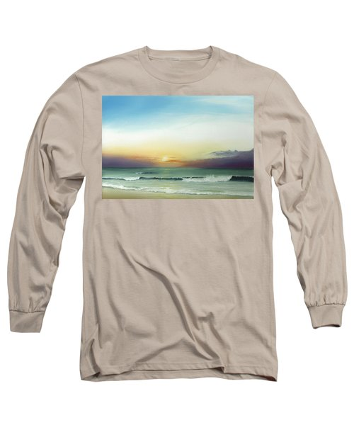 Long Sleeve T-Shirt featuring the painting East Coast Sunrise by Albert Puskaric