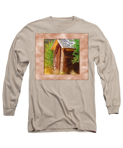 Long Sleeve T-Shirt featuring the photograph Outhouse 1 by Susan Kinney