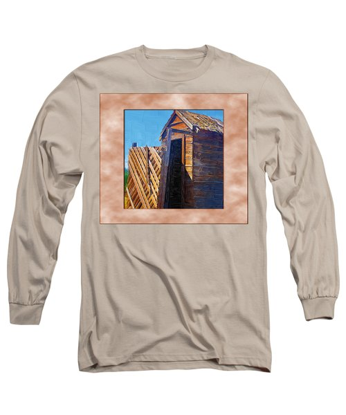 Long Sleeve T-Shirt featuring the photograph Outhouse 2 by Susan Kinney