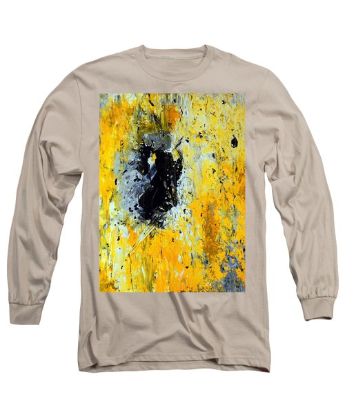 Long Sleeve T-Shirt featuring the painting Outside Looking In by Everette McMahan jr