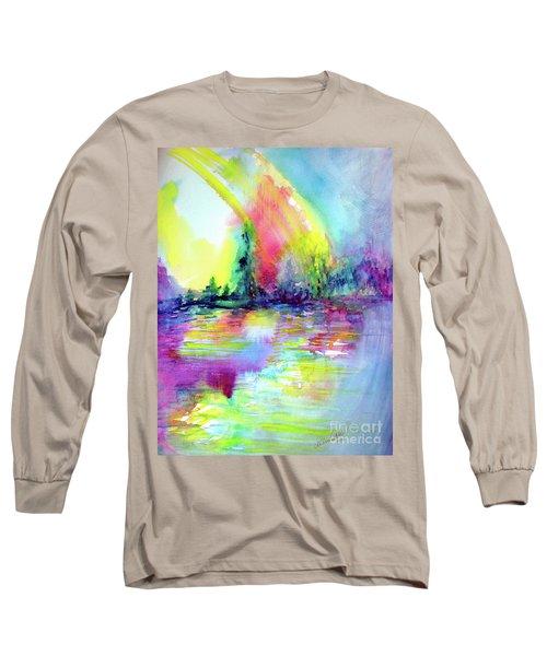 Over The Rainbow Long Sleeve T-Shirt by Allison Ashton