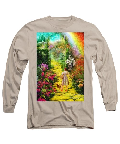 Long Sleeve T-Shirt featuring the painting Over The Rainbow by Mo T