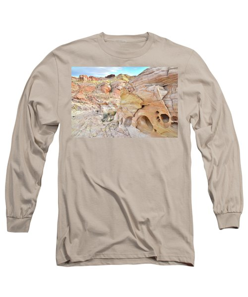 Overlooking Wash 5 In Valley Of Fire Long Sleeve T-Shirt by Ray Mathis