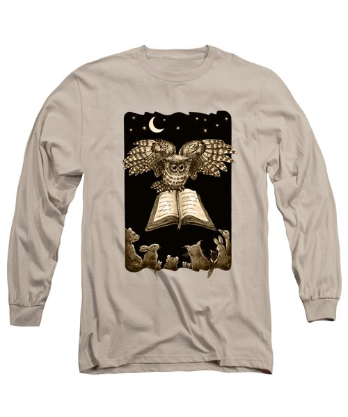 Owl And Friends Sepia Long Sleeve T-Shirt