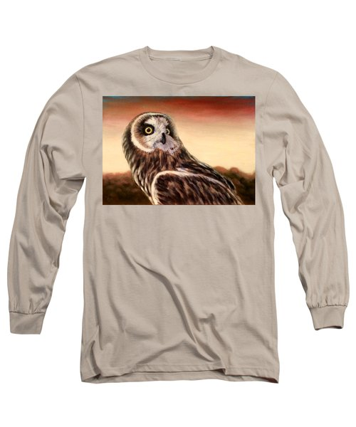 Owl At Sunset Long Sleeve T-Shirt