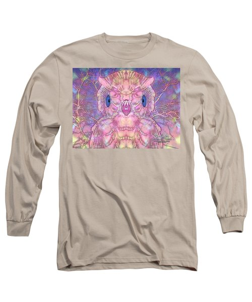 Owl Long Sleeve T-Shirt by Barbara Tristan