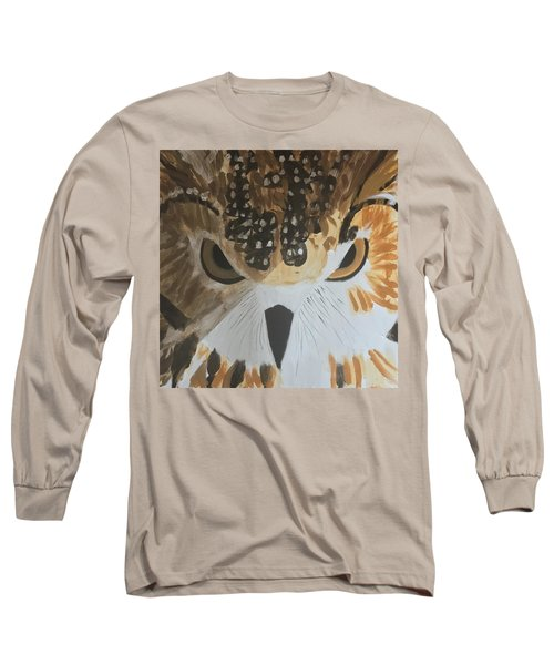 Owl Long Sleeve T-Shirt by Donald J Ryker III