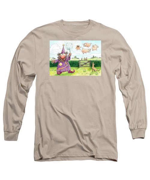 Pigs Might Fly    P8 Long Sleeve T-Shirt by Charles Cater
