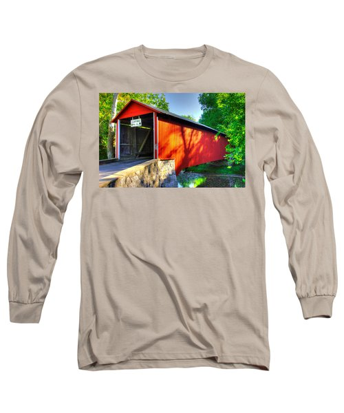 Pa Country Roads - Witherspoon Covered Bridge Over Licking Creek No. 4b - Franklin County Long Sleeve T-Shirt