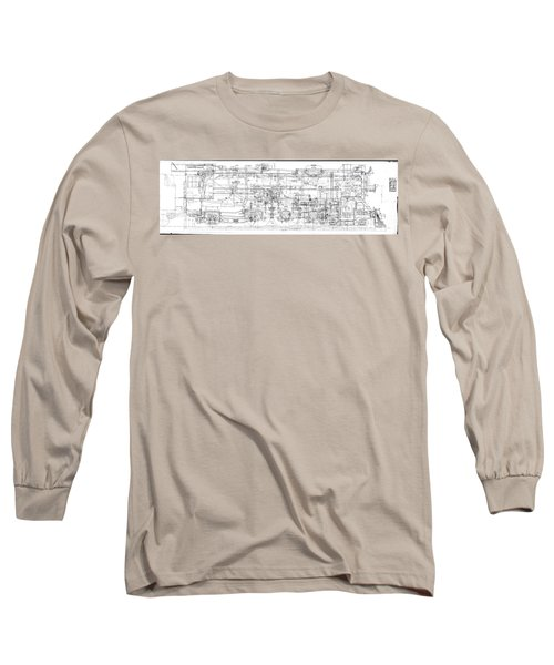 Pacific Locomotive Diagram Long Sleeve T-Shirt