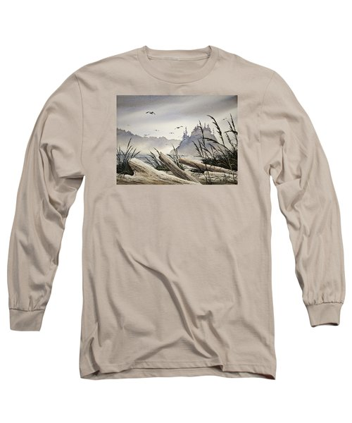 Pacific Northwest Driftwood Shore Long Sleeve T-Shirt