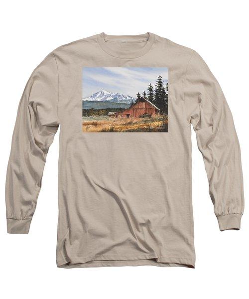 Pacific Northwest Landscape Long Sleeve T-Shirt