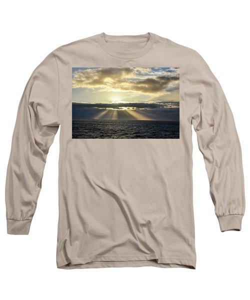 Pacific Sunset Long Sleeve T-Shirt by Allen Carroll