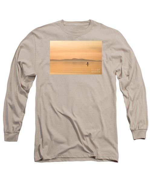 Paddle Boarding At Sunrise Long Sleeve T-Shirt