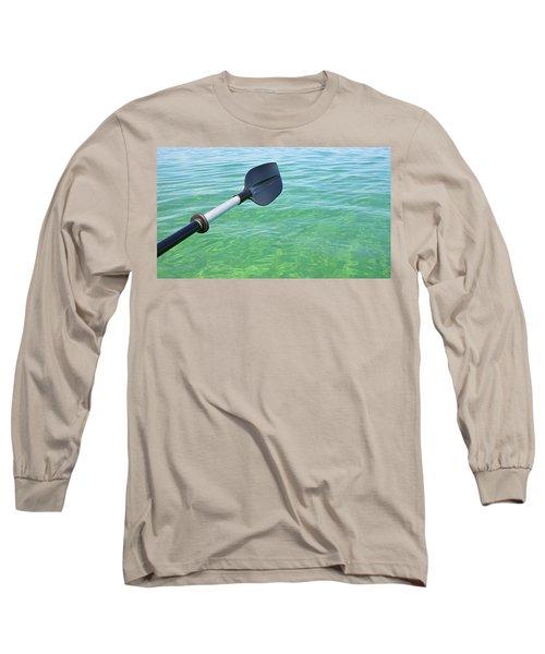 Paddling Grand Traverse Bay Long Sleeve T-Shirt